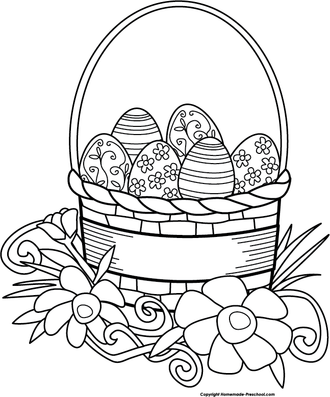 picture royalty free Easter Clip Art Black And White