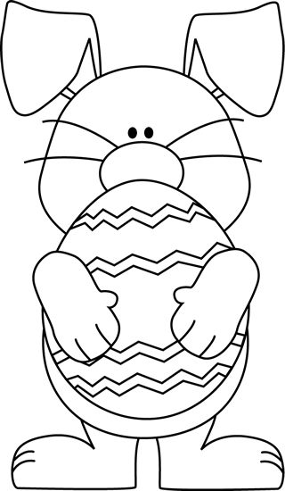 image black and white library Supermarket clipart coloring.  cute easter bunny