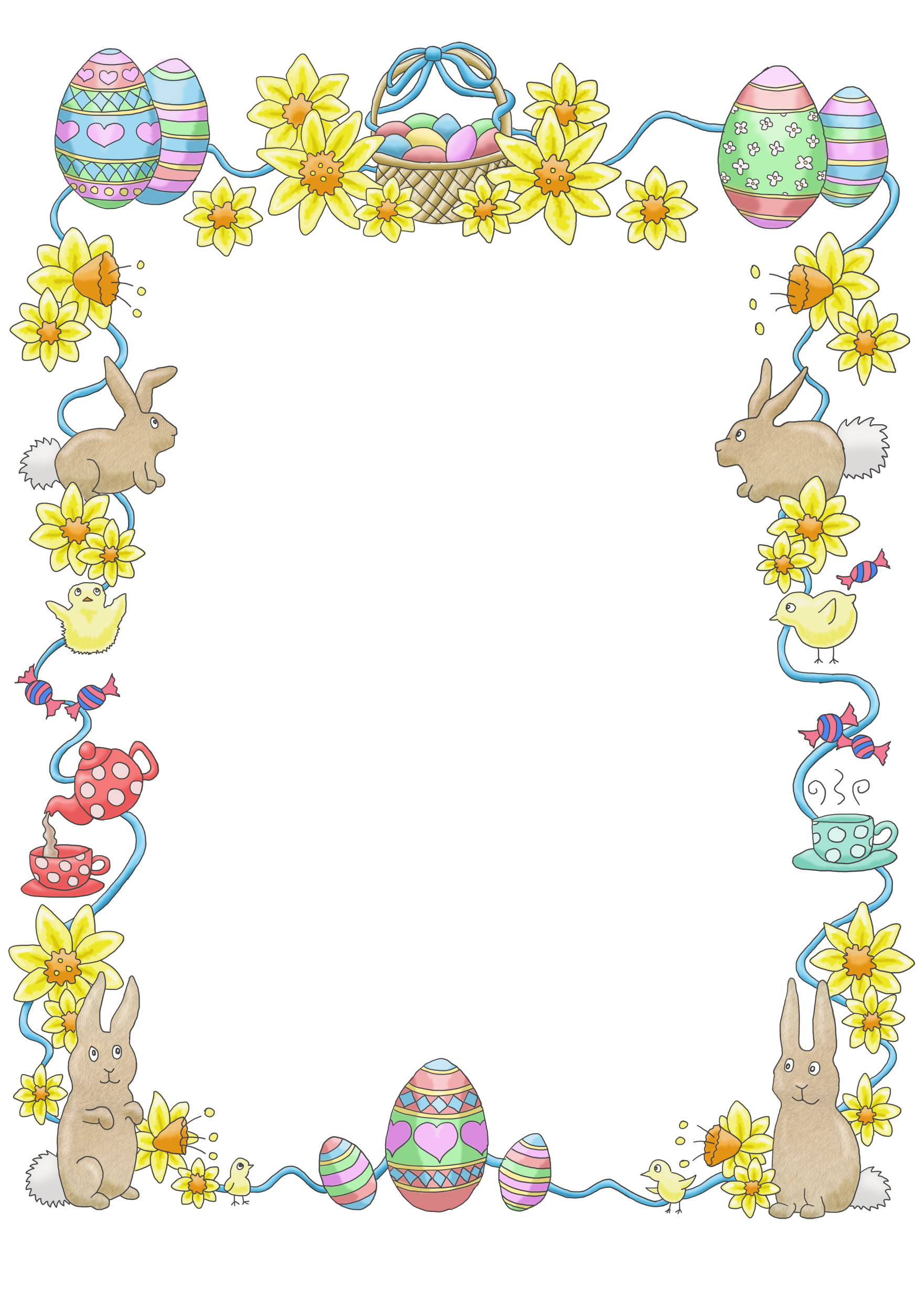 graphic black and white Free cliparts download clip. Easter clipart borders