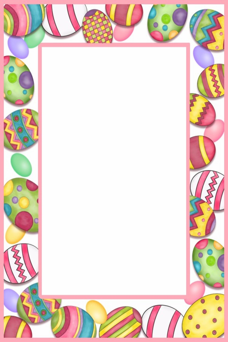 graphic black and white Easter clipart borders. Free cliparts download clip