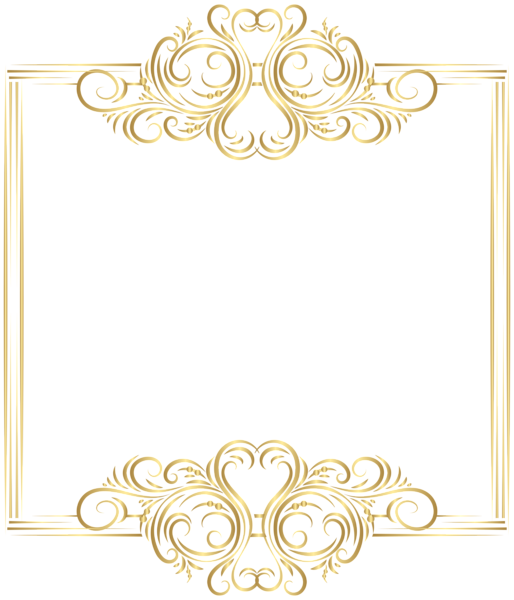 image black and white Gold border frame png. Easter clipart borders