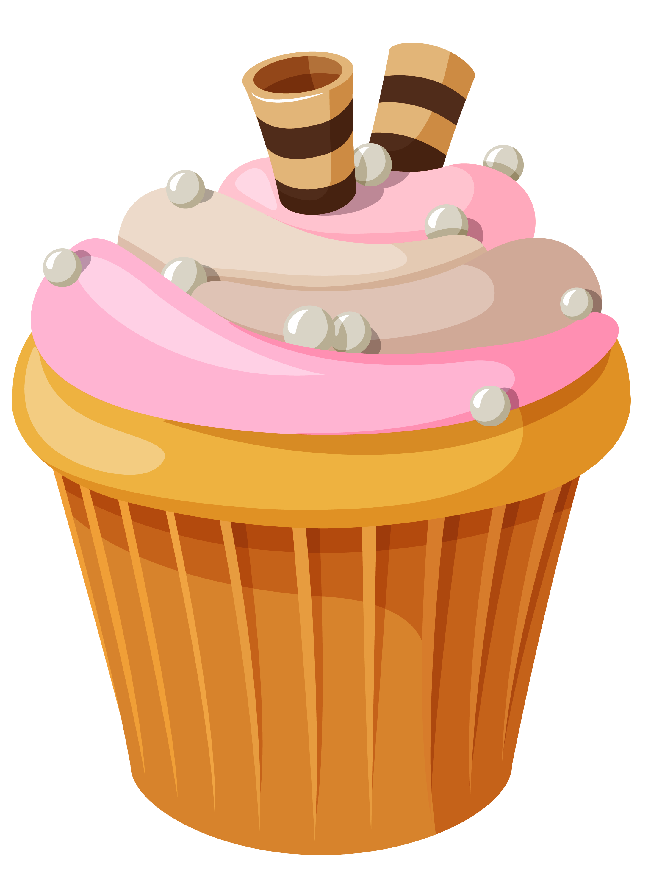 picture freeuse stock Mini Cake with Pink Cream PNG Clipart Picture