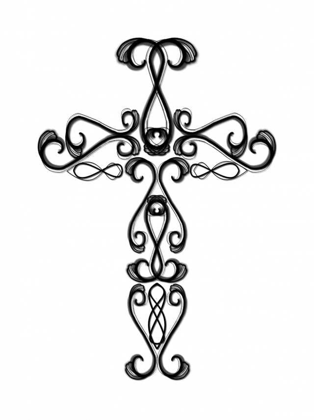 svg freeuse library Drawing pictures of crosses. Catholic cross clipart black and white