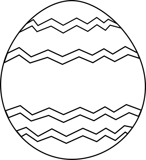clip library Easter Egg Clipart Black And White