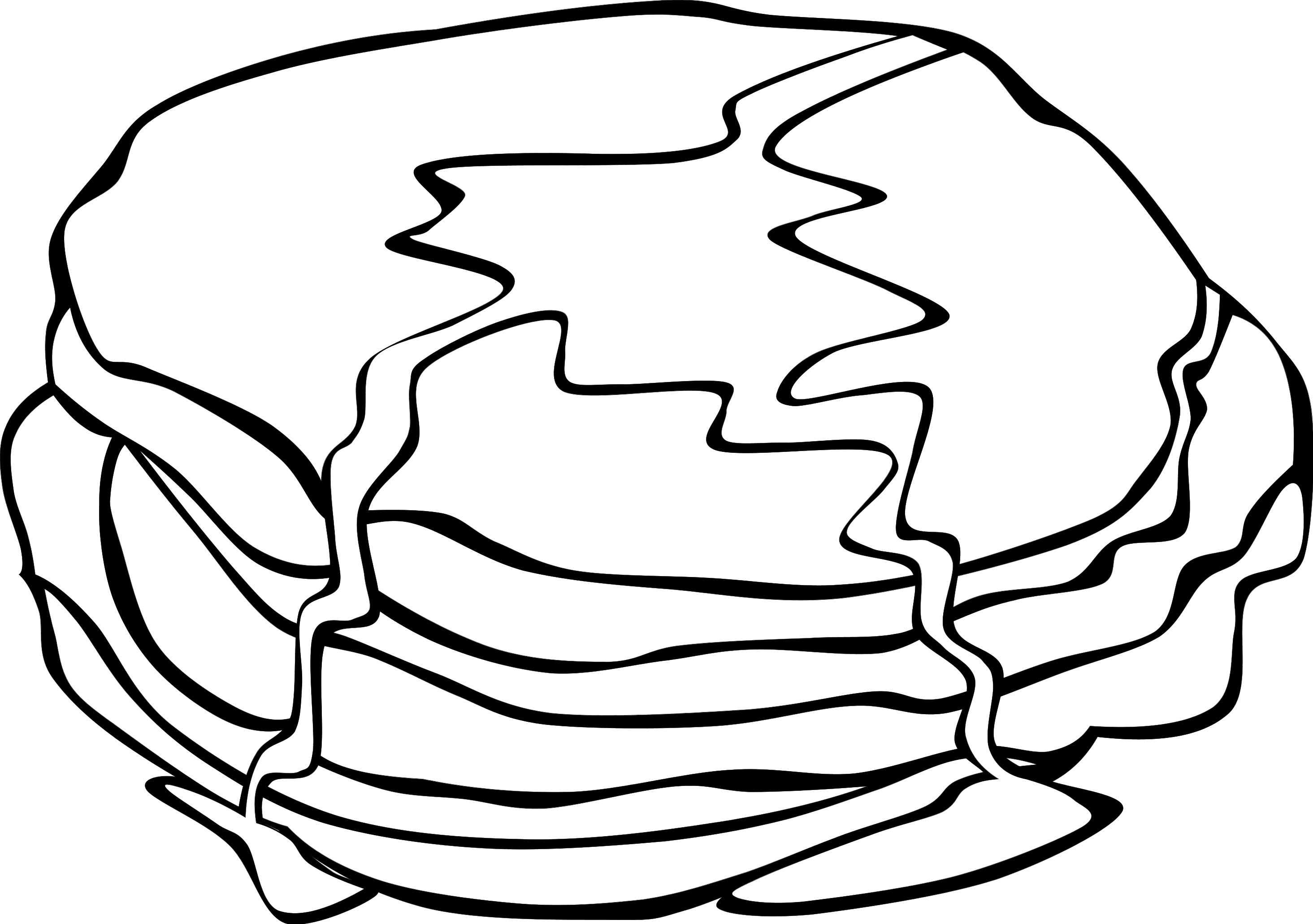 svg royalty free Pancakes clipart black and white.  collection of high