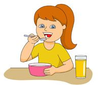 vector free Eat cereal clipart. Breakfast google search for