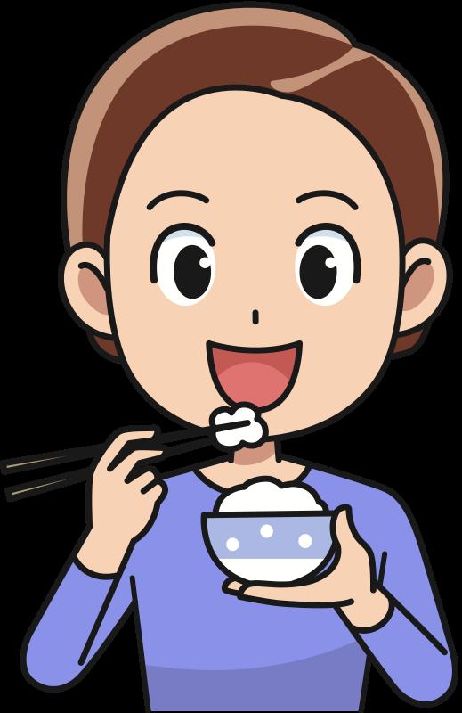 clip art free stock Eat clipart. Man eating rice medium.