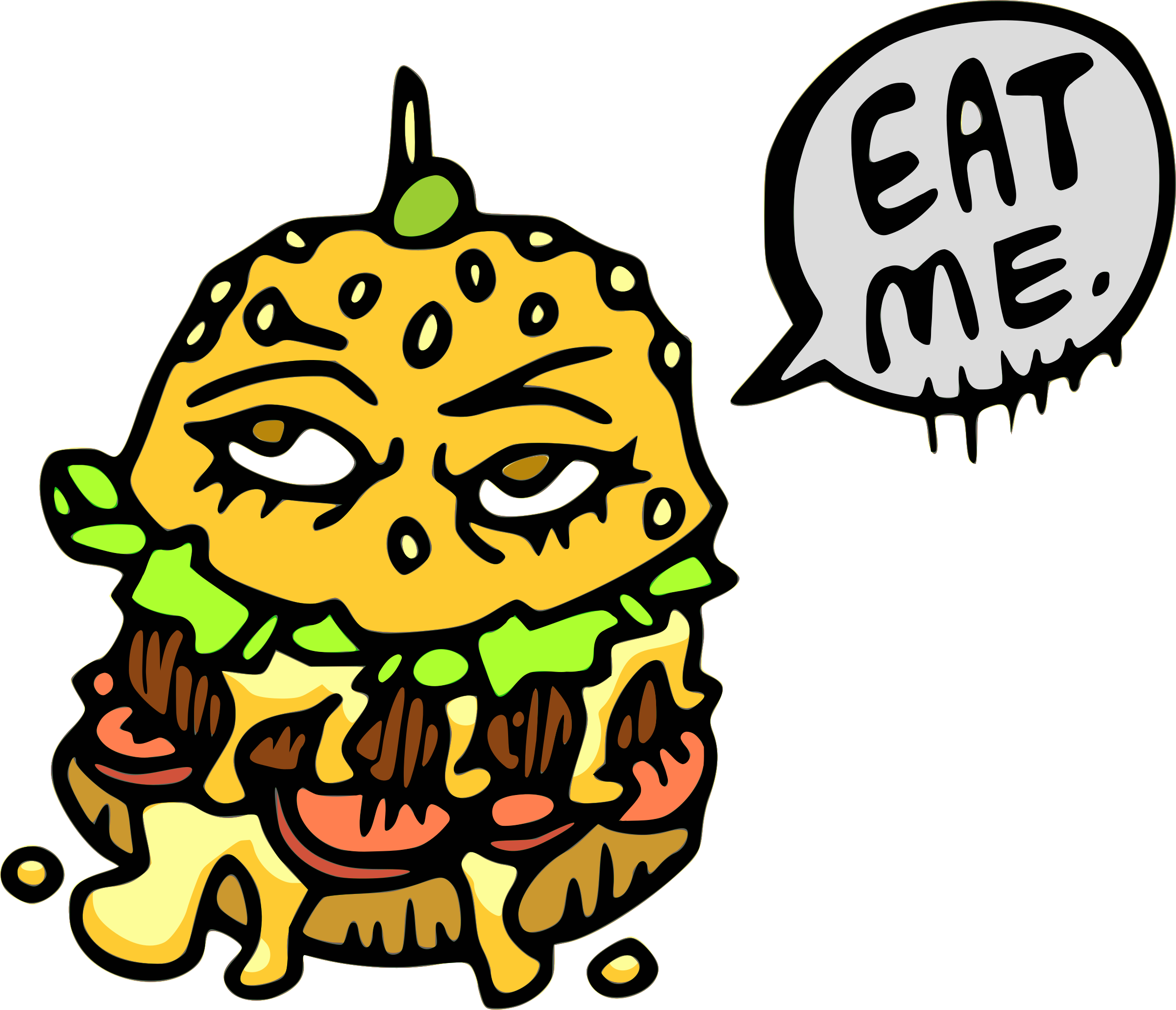 png transparent library This burger big image. Eat clipart