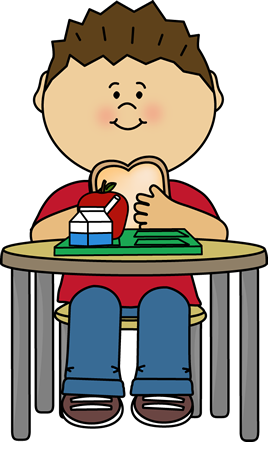 clip royalty free download Boy Eating Cafeteria Lunch