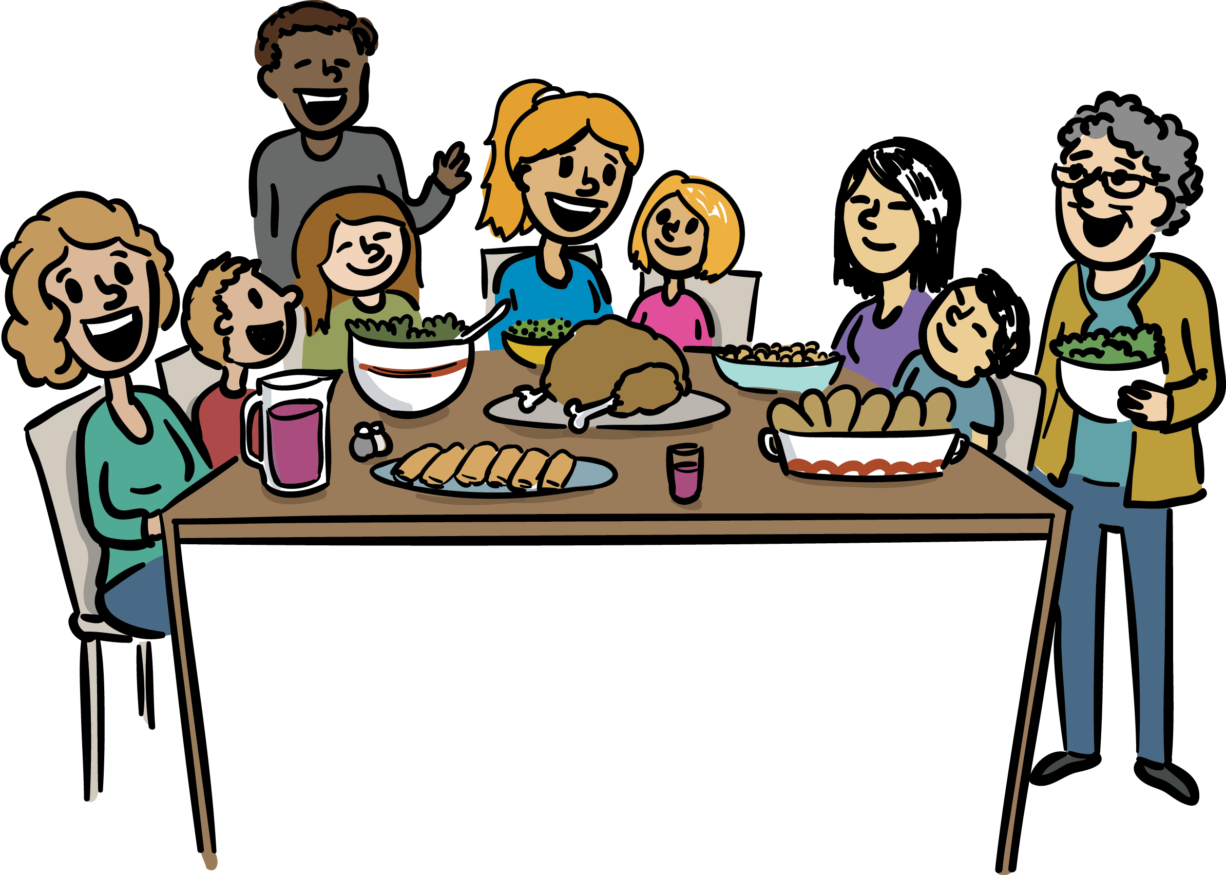 picture transparent library Family Dinner Clipart at GetDrawings