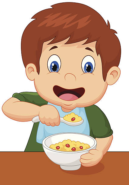 graphic royalty free download Eating clipart. Kids station