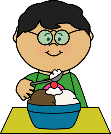 png free library Eating clip art net. Boy clipart ice cream