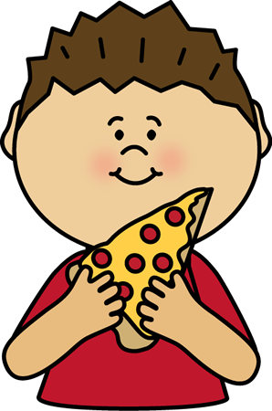 graphic library stock Supermarket clipart kid. Boy eating pizza postacie