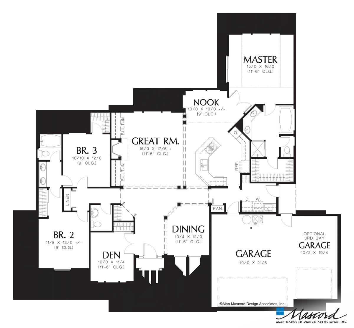 clip art transparent download Main Floor Plan of Mascord Plan