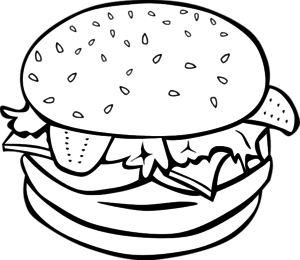 vector freeuse stock  clipart outline for. Vector burger drawing