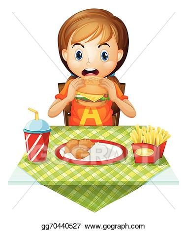 image free stock Vector art a child. Eating drawing restaurant