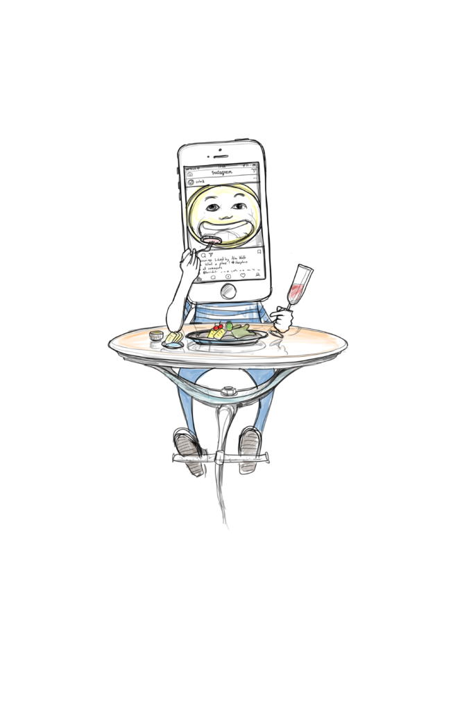 clipart library stock Eating drawing restaurant. The new normal in