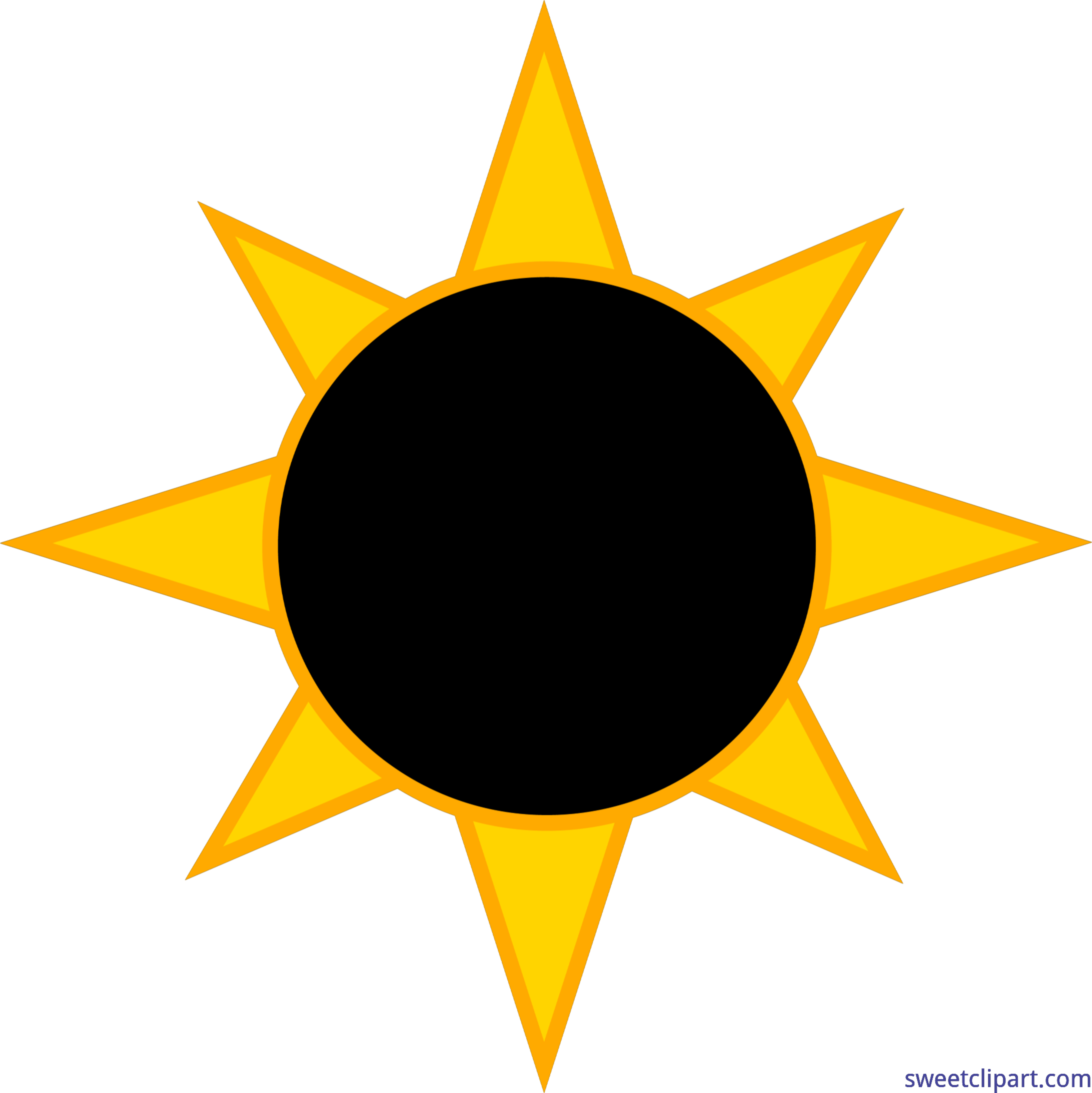png black and white stock Eclipse clipart. Solar sun clip art.