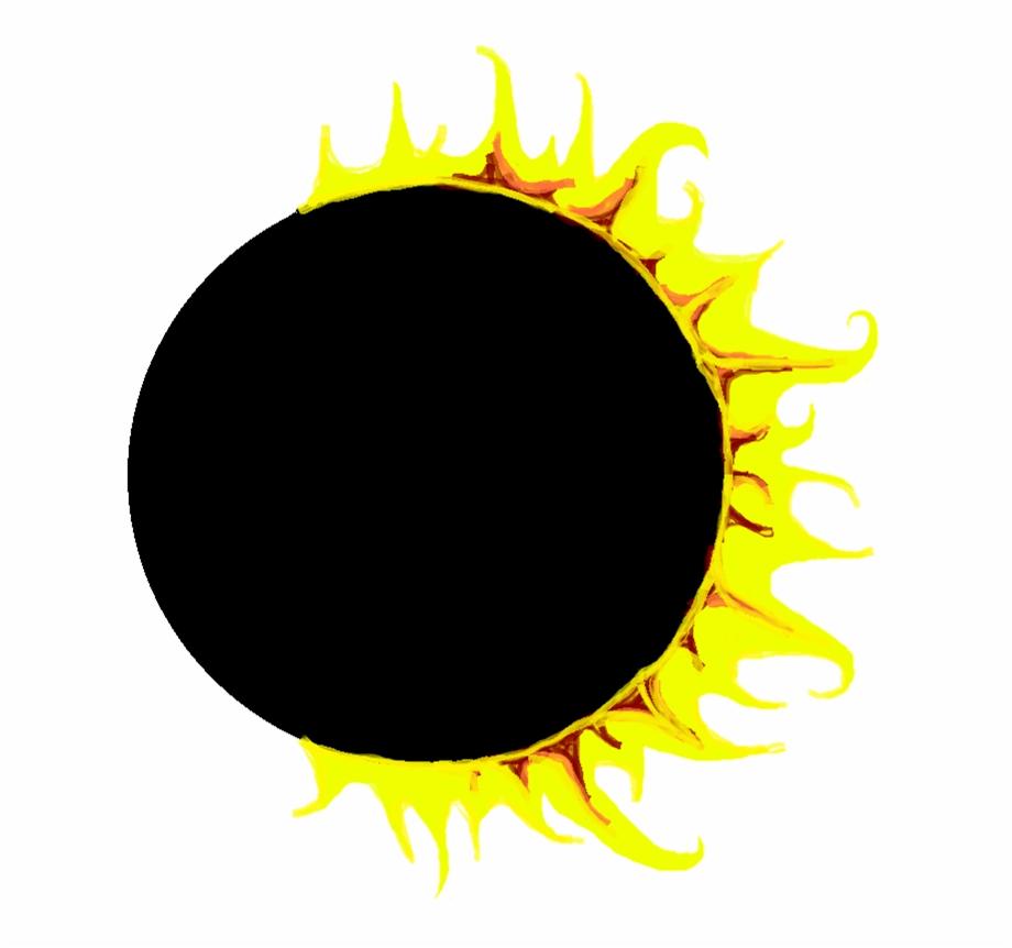 image black and white Sun symbol solar clip. Eclipse clipart.