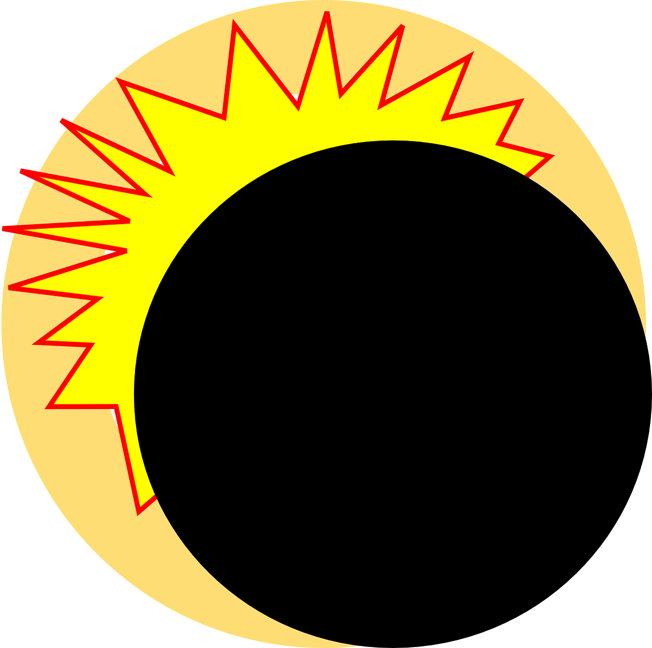freeuse stock Eclipse clipart eclipse line. Solar of august april.