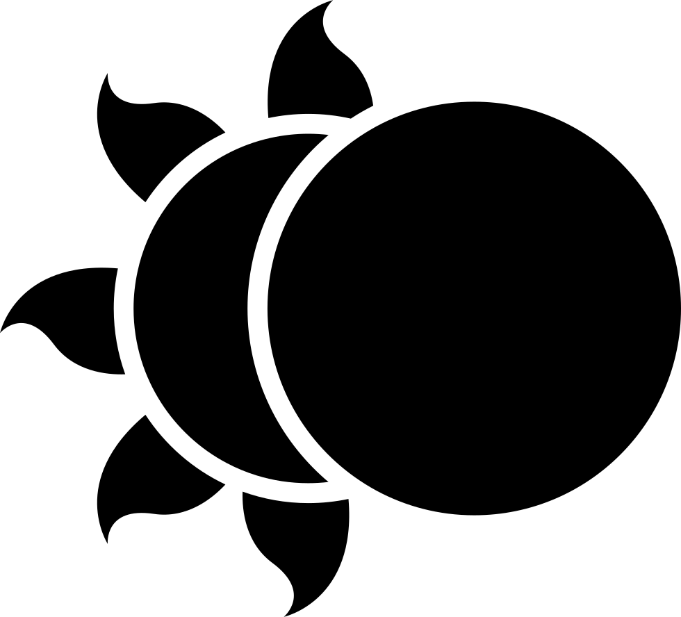 clipart freeuse Sun And Moon Silhouette at GetDrawings