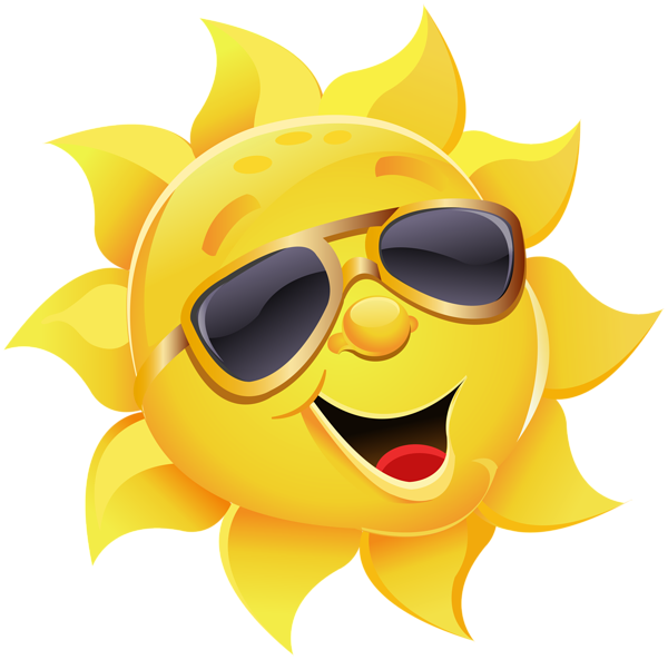 clip freeuse library Waking clipart wake up sun. With sunglasses png image.