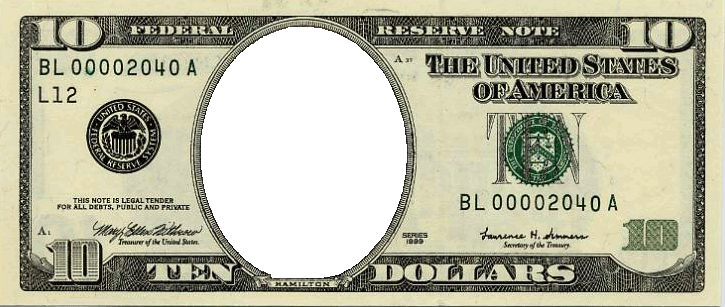 svg royalty free Put your face on. Economy clipart dollar bill.