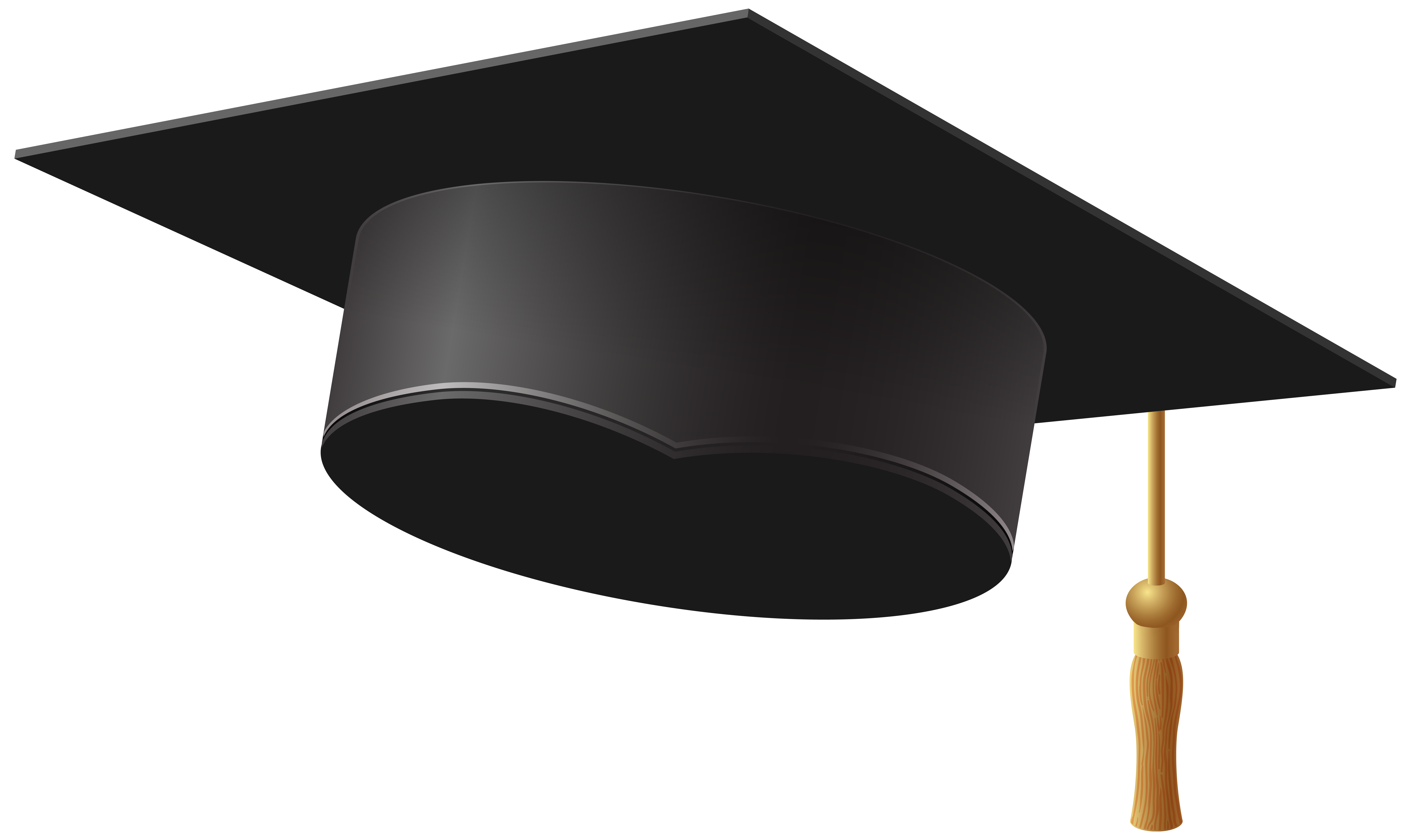 clipart black and white library Graduation Cap PNG Clip Art Image