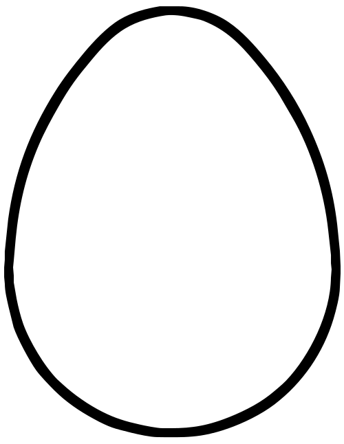black and white download Egg Line Drawing at GetDrawings