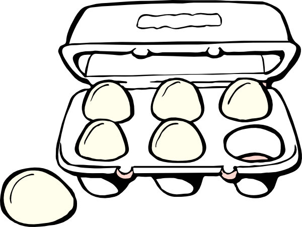 clipart library stock Milk clipart black and white. Egg carton drawing at