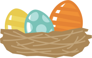 vector royalty free stock Easter Eggs In Nest SVG files for scrapbooking free svgs cute svg