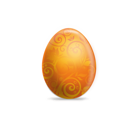 black and white library Orange floral easter egg