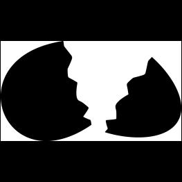 clipart FREE SVG Broken Egg Silhouette