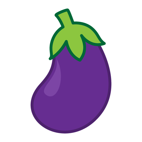svg transparent download Eggplant clipart.