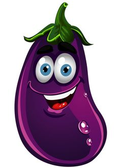 clip art freeuse stock Eggplant clipart face. Free cartoon cliparts download.