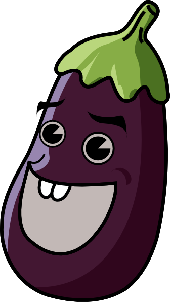 banner download Cartoon Eggplant Clip Art at Clker