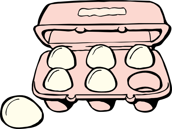 picture royalty free library Eggs clipart. Box of .