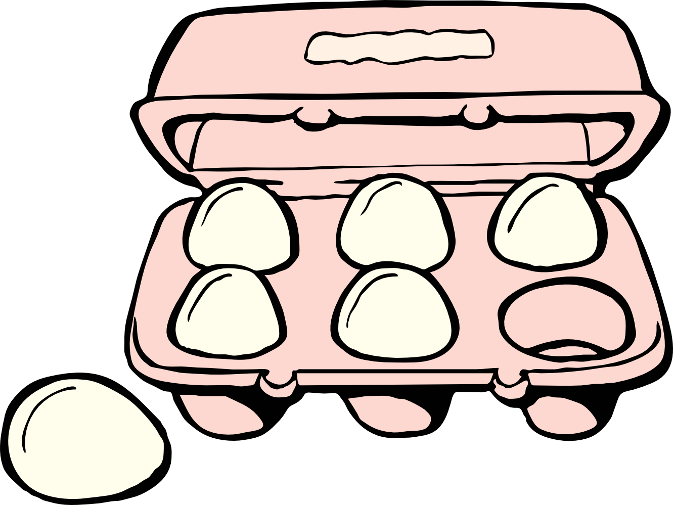 clip transparent download Egg Clipart Black And White