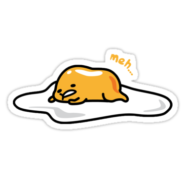 svg library Lazy egg stickers by. Eggs transparent gudetama
