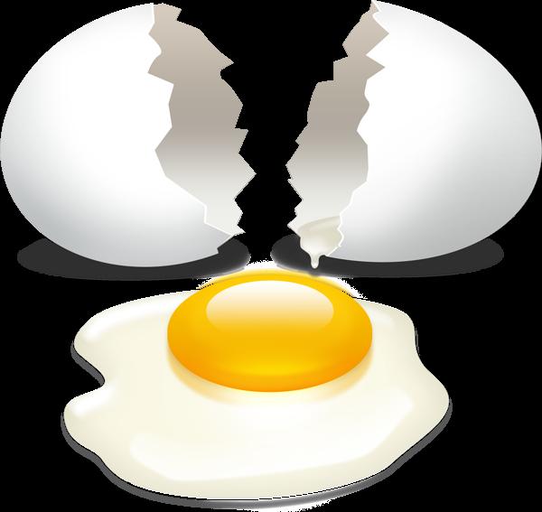 image freeuse download Broken egg with yolk PSD download