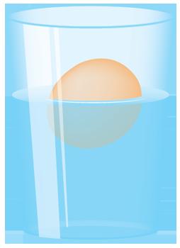 image stock Floating Egg