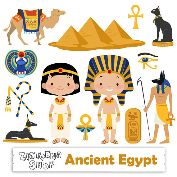 vector library Egyptian clipart egyptian figure. Egypt cute transparent free