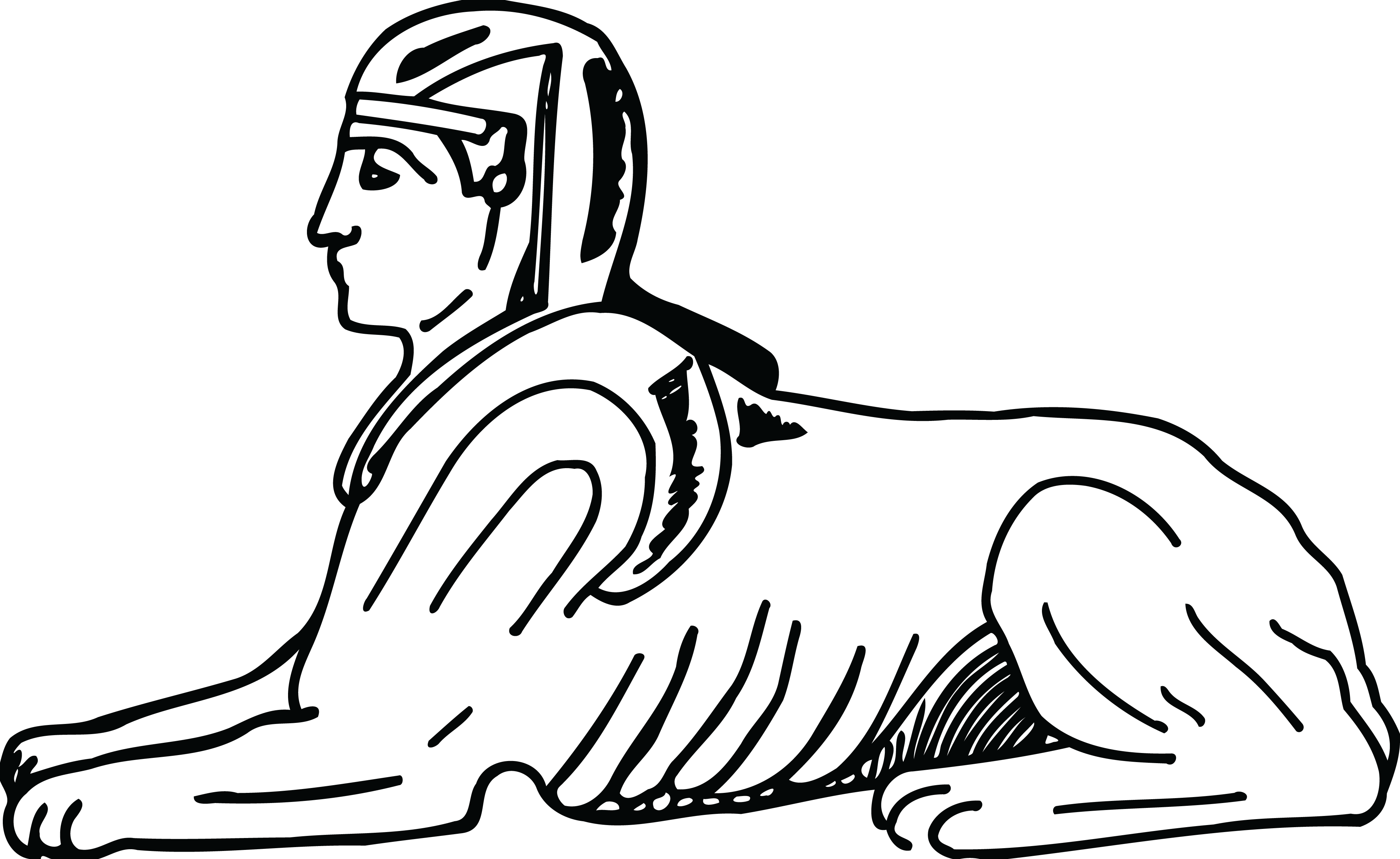 banner black and white download Egypt drawing. Sphinx at getdrawings com