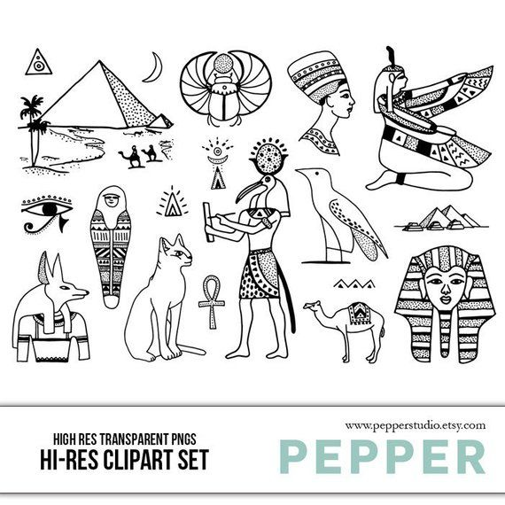 svg royalty free stock Ancient Egypt Doodle Clipart