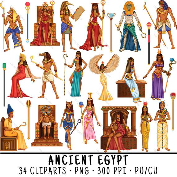 vector transparent Cleopatra clip art . Egyptian clipart egyptian figure