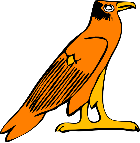 graphic Pharoa eagle clip art. Egyptian clipart.