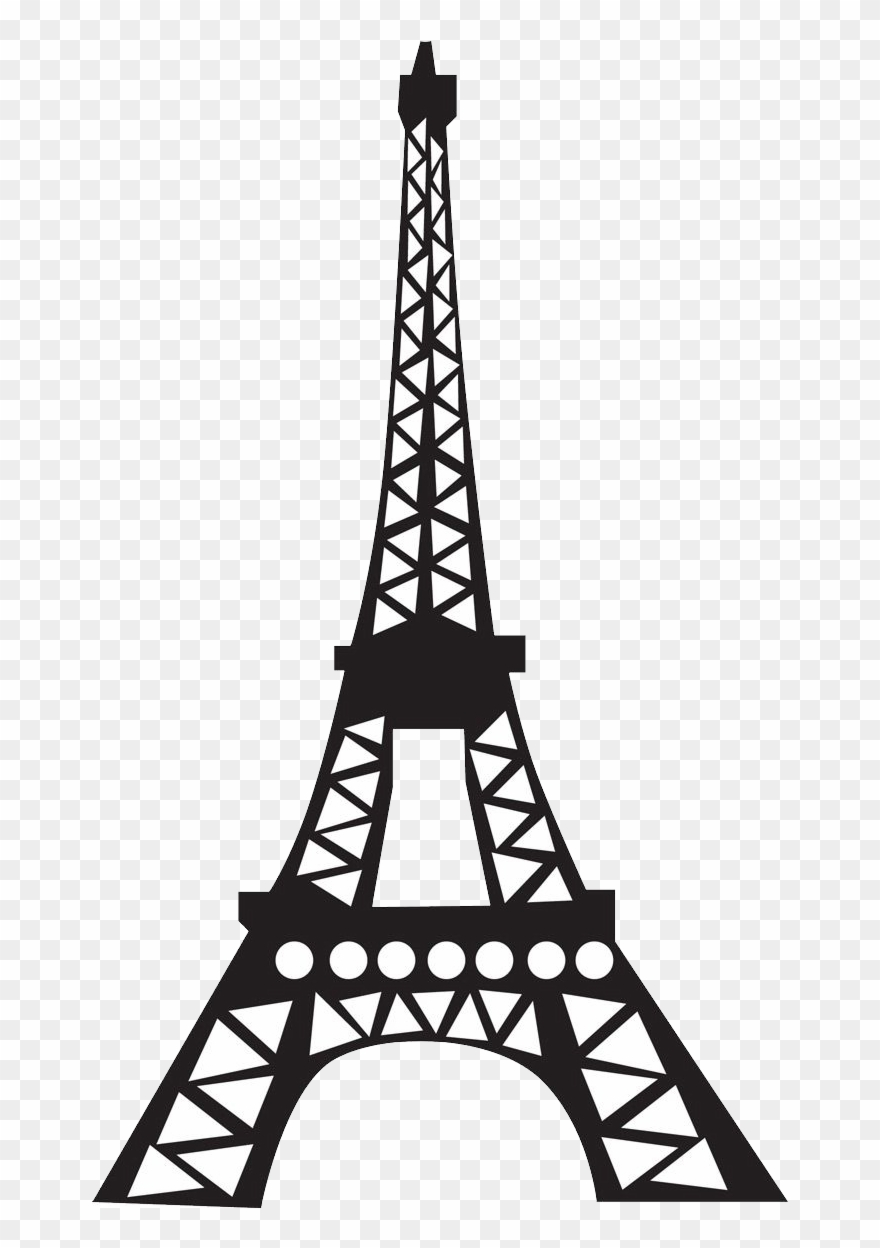 image black and white Eiffel clipart. Simple cartoon tower pinclipart.