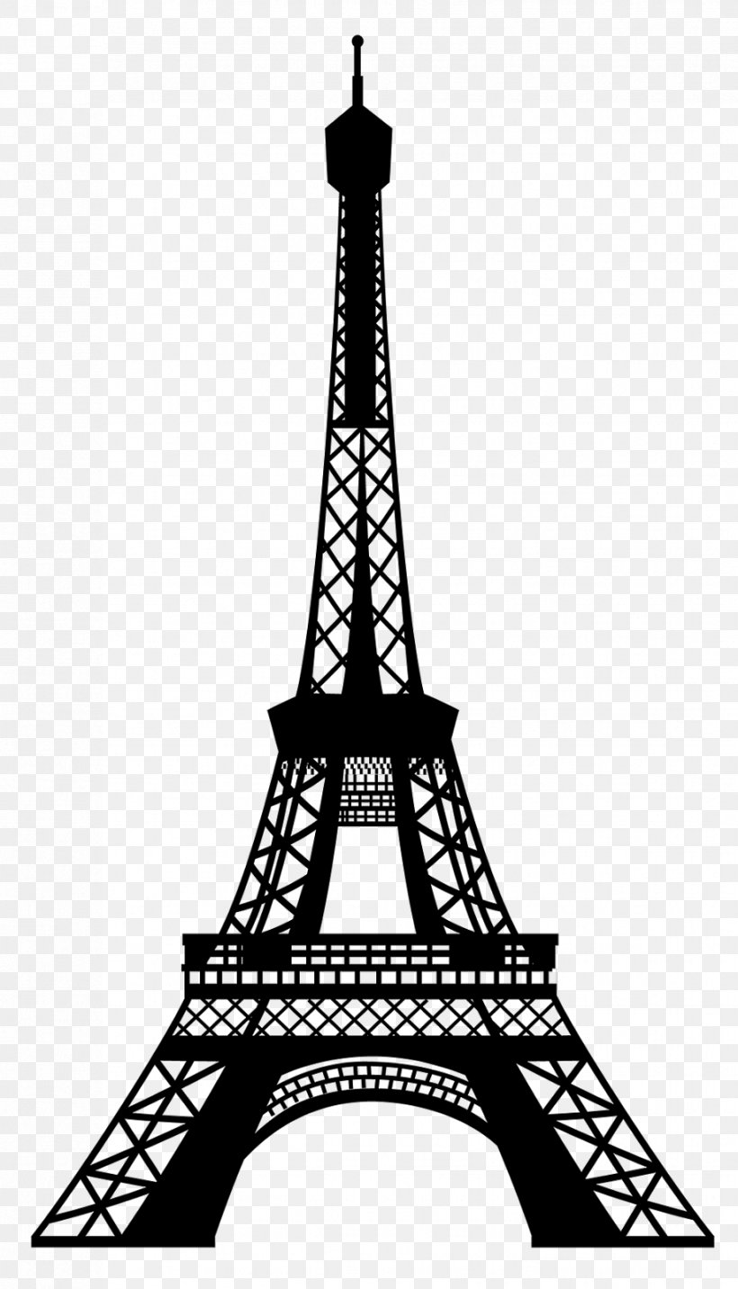 jpg black and white Tower clip art png. Eiffel clipart