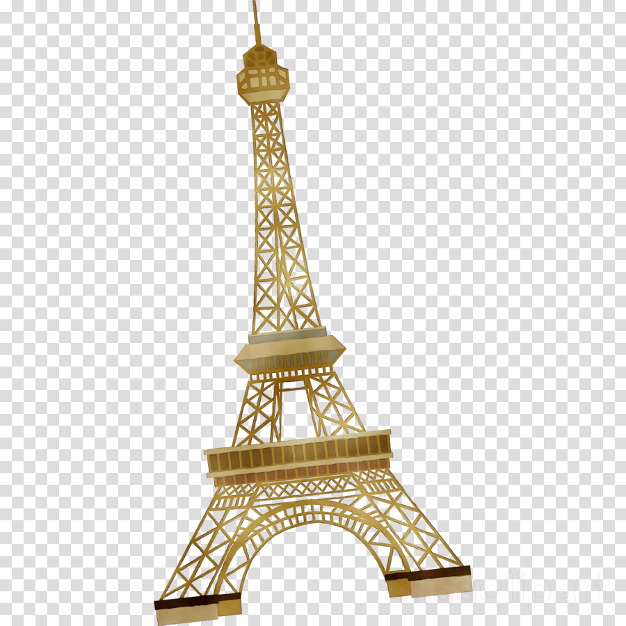 clip library stock Tower architecture transparent clip. Eiffel clipart golden