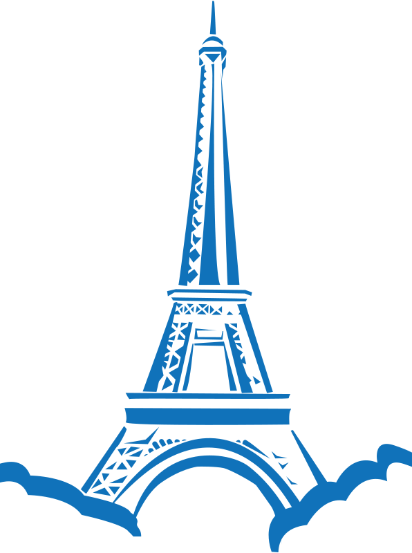 banner black and white library Eiffel clipart golden. Tower free at getdrawings